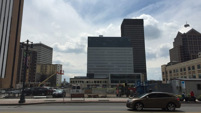 The undeveloped center parcel of the Midtown block, called Parcel 5, is being eyed for a combination casino-performing arts center.