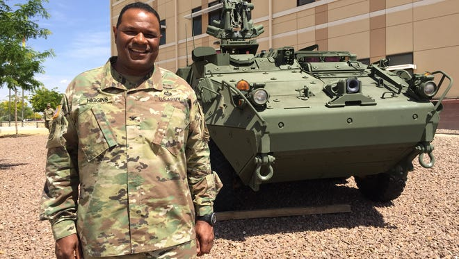 Col. Earl B. Higgins Jr. is commander of 1st Brigade at Fort Bliss. He will lead his unit on a rotation at the National Training Center at Fort Irwin, Calif., this fall.