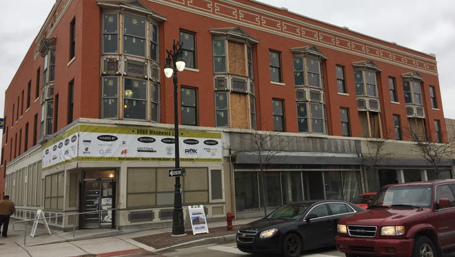 The civic group Midtown Detroit Inc. celebrated its latest revitalization project Jan. 27, 2017 -- a renovation of this 1896 building known as Woodward Grand at the southeast corner of Woodward and Grand Boulevard in the New Center District. The Ralph C. Wilson Jr. Foundation will establish its new headquarters in the building in the spring when renovations are completed.