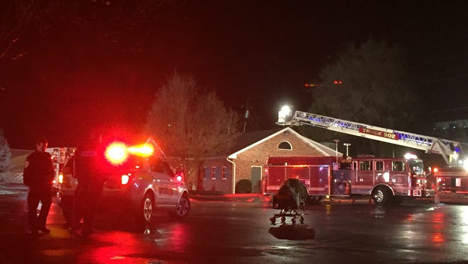 Firefighters converge on Mary Jane's Restaurant in West Manchester Twp. Tuesday night.