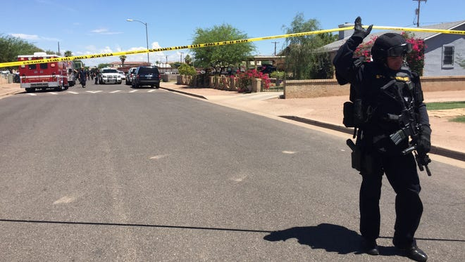 Two men were injured during a shooting in Phoenix near 17th Avenue and Tonto Street on July 31, 2017.