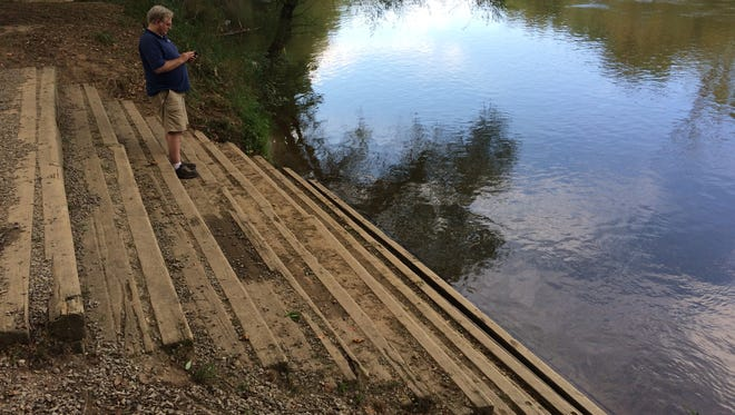 The river access at Hominy Creek River Park does include steep stairs, but replacing them with a ramp would require multiple permits and possibly hundreds of thousands of dollars.