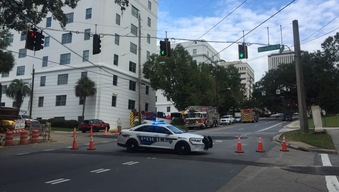 Tallahassee fire officials have evacuated a portion of the Collins Building.