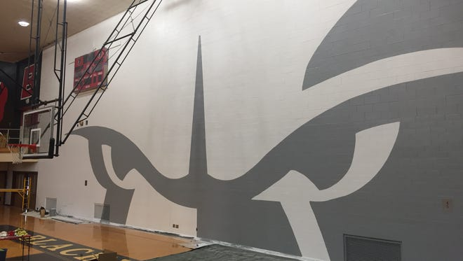 In the 50th year of the school, Blackford updated its gym with a fresh paint job.