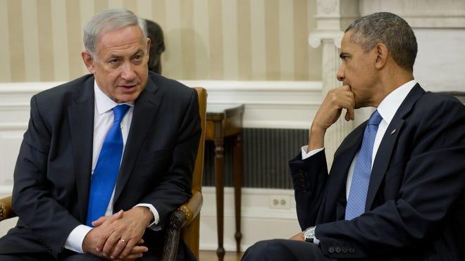 President Obama and Israeli Prime Minister Benjamin Netanyahu  meet in the Oval Office on Sept. 30.
