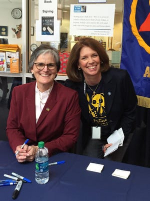 Tori Murden McClure with Notre Dame Academy President Dr. Laura Koehl.