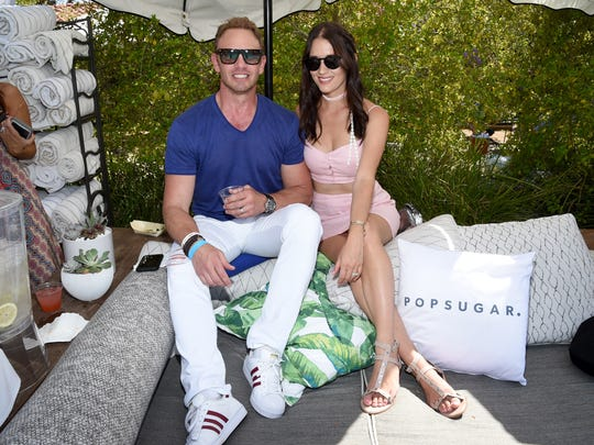 PALM SPRINGS, CA - APRIL 15:  Ian Ziering and Erin Kristine Ludwig at the POPSUGAR Cabana Club Pool Party at Colony Palms Hotel on April 15, 2017 in Palm Springs, California.  (Photo by Michael Kovac/Getty Images for POPSUGAR )
