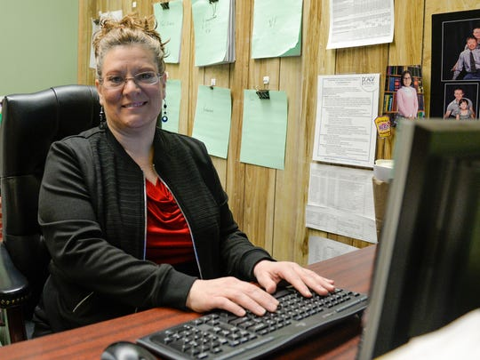 Jennifer Oh, legal advocate for Domestic Violence Intervention of Lebanon County,  poses for a picture inside her office at the Lebanon Municipal Building on Wednesday, Feb. 3, 2016.