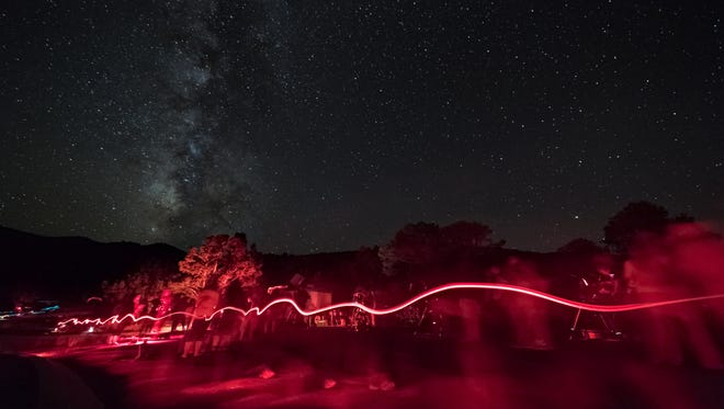 Long-exposure image taken at the GBNP Astronomy Festival in 2015.