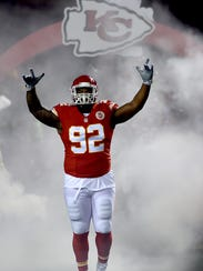 Kansas City Chiefs defensive tackle Dontari Poe. Age: