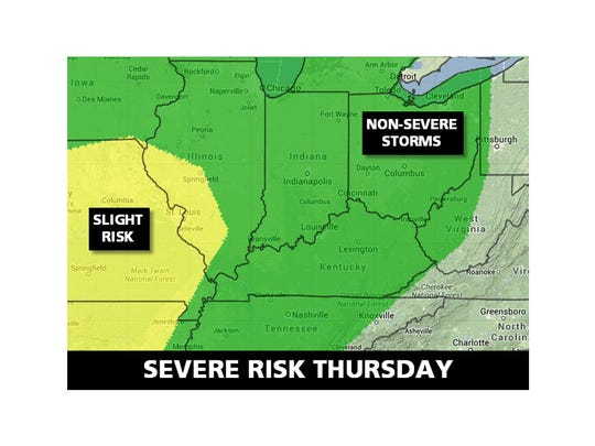 Thursday's severe weather forecast