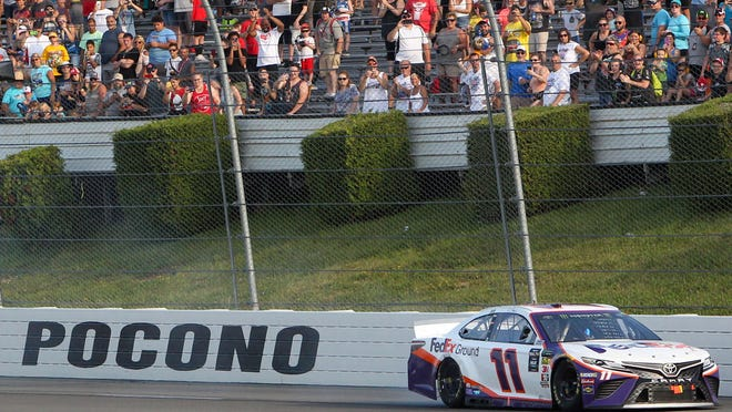 This was to be a big weekend for NASCAR with a double-header at Pocono, but no fans in the stands takes some shine off the event.