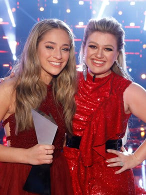 """Brynn Cartelli won Season 14 of """"The Voice,"""" with first-time coach Kelly Clarkson by her side."""