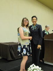 Erin McLarry presented the Girl Scout Gold Award by