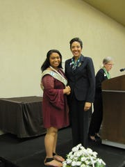 Cynthia Roberson presented the Girl Scout Gold Award