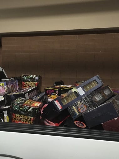 Police seized a pick-up truckbed full of illegal fireworks from Chris Kleve's home.