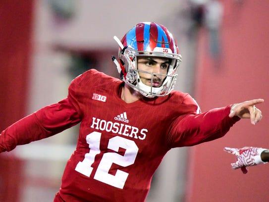 Hoosiers quarterback Zander Diamont added some Hollywood