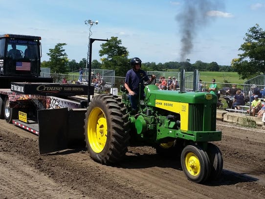 There are many tractors which compete or are displayed