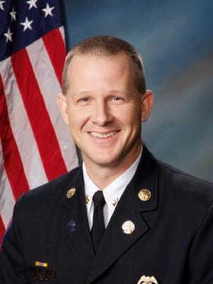 Scott Wolverton will officially be sworn in as a fire chief