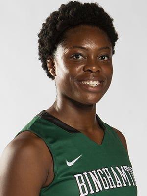 Binghamton University women's basketball player Alyssa James.