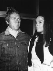 "In this Dec. 7, 1972 file photo, actor, Steve McQueen, and actress, Ali MacGraw, are shown at a press screening of their movie, ""The Getaway,"" in Hollywood. This movie is a crime melodrama directed by Sam Peckinpah."