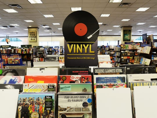 The vinyl selection at Barnes and Noble bookstore.