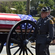 Funeral procession for Monroe County Deputy Michael Norris.