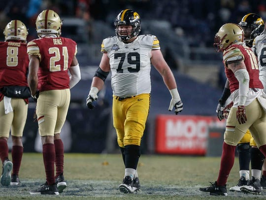 Sean Welsh is shown during his final football game: the 2017 Pinstripe Bowl, a 27-20 win against Boston College in New York City. Welsh would sign with the Washington Redskins four months later but never put on pads for an NFL practice.