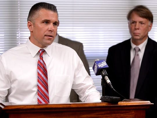 Jackson Interim Police Chief Julian Wiser speaks Friday afternoon about the three arrests in the Old Medina Winery arson case.