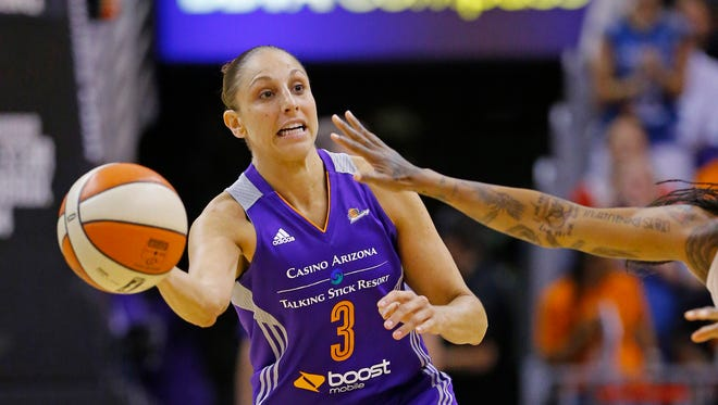 Diana Taurasi and the Mercury face the Los Angeles Sparks on Thursday, July 24, 2014