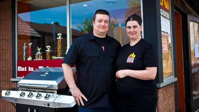 Brian Wemett and his wife, Kelly Wemett, of Rochester, own Good Smoke BBQ in East Rochester.