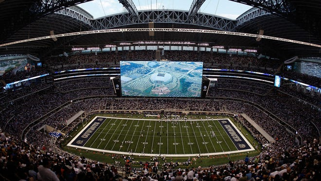 Cowboys Stadium in Arlington, Texas.