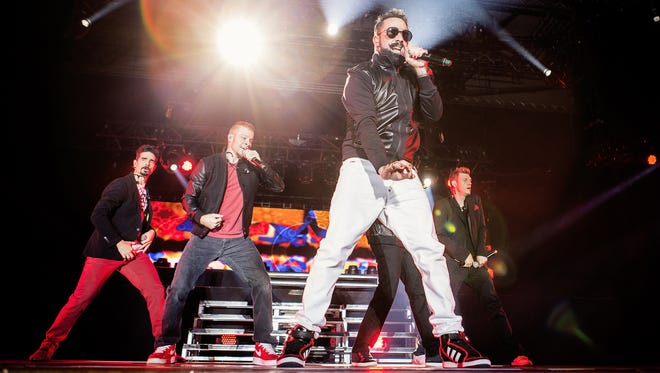 Kevin Richardson, Brian Littrell, A. J. McLean, Howie Dorough and Nick Carter of Backstreet Boys perform in concert on February 20, 2014 in Barcelona, Spain.