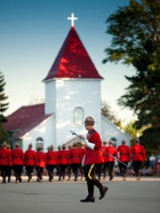 RCMP Sunset Retreat Ceremony with the Royal Canadian