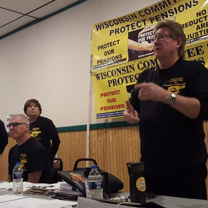 """Bob Amsden, of the Wisconsin Committee to Protect Pensions, details the efforts his group is making to prevent a """"rescue plan"""" from being approved that could see retirees pensions being cut as much as 50 or 70 percent."""