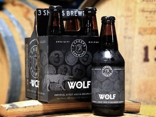 The Wolf, barrel aged imperial stout, 3 Sheeps Brewing