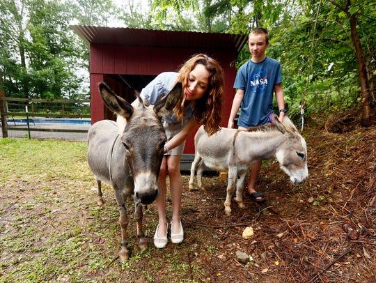 Dr. Kristen Walsh of Mendham with her son Kieran, 13,