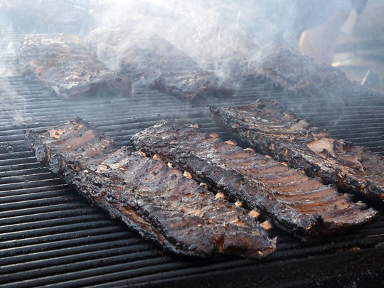 The 2015 Nugget Rib Cook-off features 24 cookers from across the United States. During the event, they'll cook about 250,000 pounds of ribs.