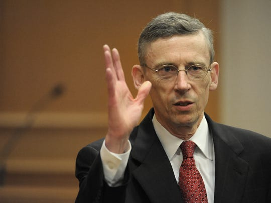 Attorney General Robert E. Cooper Jr. For the first time in state history, the TN Supreme Court held open interviews for eight candidates for the state AG. Among the candidates is current AG Bob Cooper on Monday Sept. 8, 2014, in Nashville in Tenn.