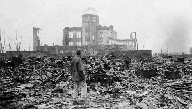 An allied correspondent in Hiroshima on Sept. 8, 1945, a month after the U.S. dropped an atomic bomb on the city -- the first ever used in warfare.