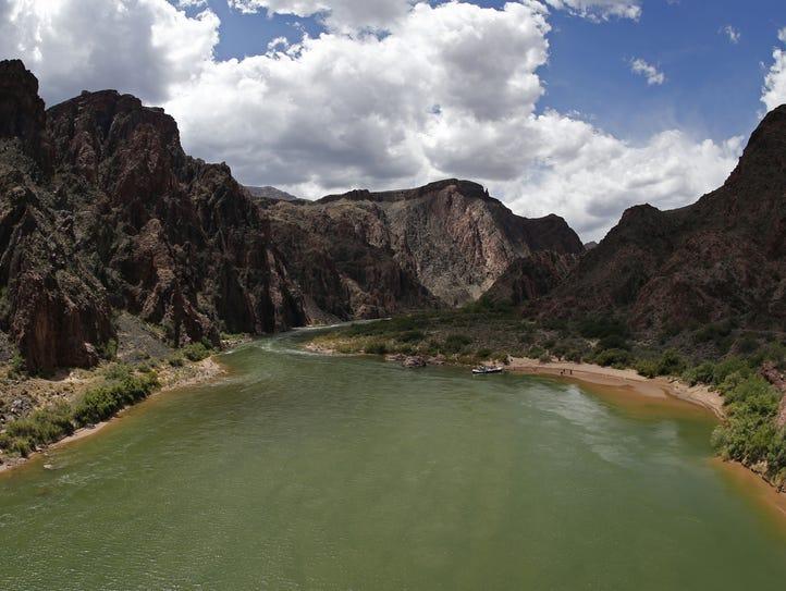 The Colorado River as it passes beneath Black Bridge