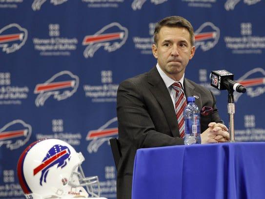 Buffalo Bills president Russ Brandon during a press
