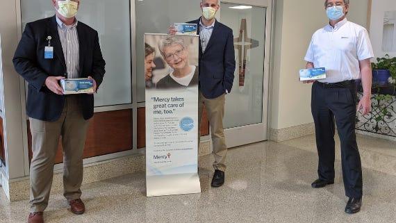 Michelin donates 5,000 masks to Mercy Hospital Ardmore.