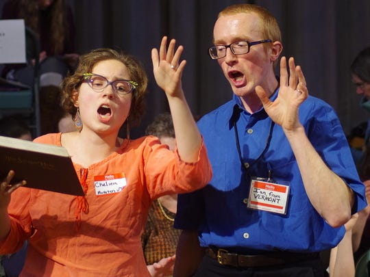 Chelsea and Ian Smiley of Monkton sing at the weekend