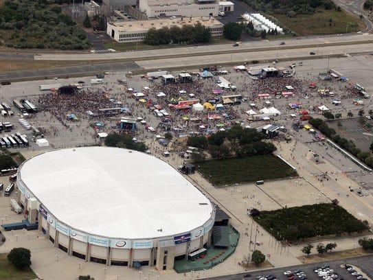 A 2011 edition of the Vans Warped Tour at Nassau Coliseum
