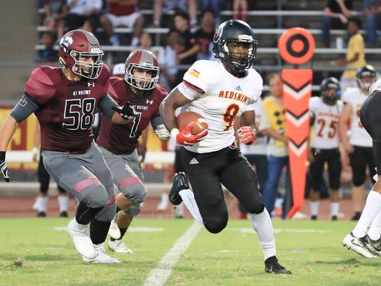 Mt. Whitney senior wide receiver Emoryie Edwards turned