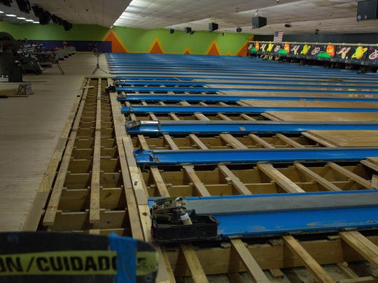 The wooden lanes at 10 Pin Alley have been replaced with synthetic-material lanes. Wednesday May 18, 2017