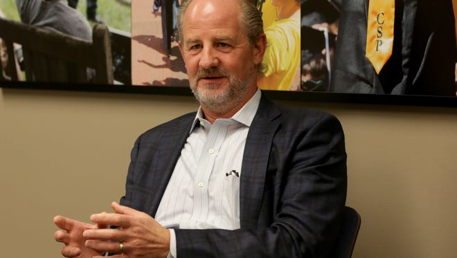 University of Michigan Chief Investment Officer L. Erik Lundberg talks about the U-M endowments during an interview in Ann Arbor on Friday, June 9, 2017.