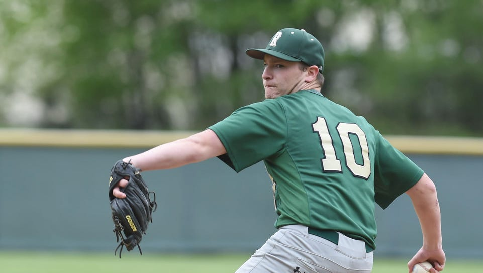 Roosevelt's Brandon Greenspan winds up a pitch during