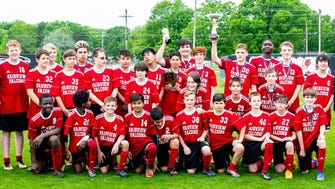 The Fairview Middle School Falcons Boys Team is the 2018 Middle Tennessee Athletic Conference Tournament Champions.